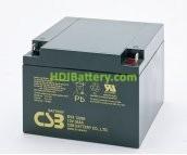 Batería para Caravana 12v 26ah Plomo AGM EVX-12260 CSB